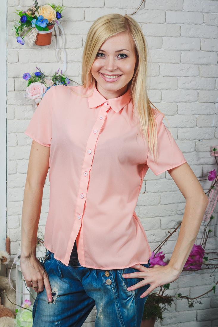 Блуза женская персик