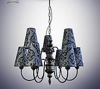 Люстра для зала, гостиной с абажурами большая 14409-2