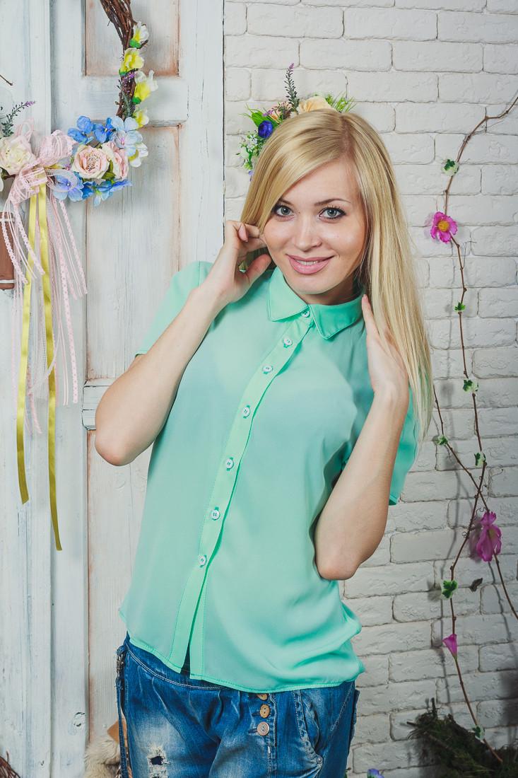 Блуза женская мята