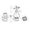 Emaux Дюзовая коробка 89012515 в комп-ке з трубою для Emaux MFV17/ 20/ 24/ 27A/ 27/31/ 31/ 35