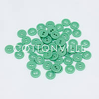 Гудзики на 2 проколу М'ятно-зелені 10 мм