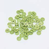 Гудзики на 2 проколу Світло-зелені 10 мм