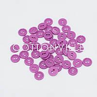 Гудзики на 2 проколу Фіолетова фуксія 10 мм