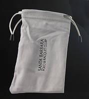 Мягкий чехол мешочек для очков, футляр, сумочка, светло-серый цвет, фото 1