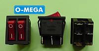 Кнопочный выключатель, Клавиша широкая двойная 28,5 * 22,0 мм разного цвета, фото 1