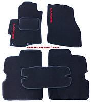 Текстильные коврики в салон (черные) Ford Transit Custom (1+1) c 2013-