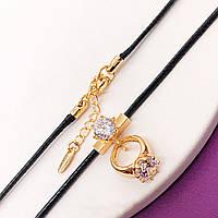 Подвеска на шнурке Xuping Jewelry 44/47 см медицинское золото, позолота 18К. А/В 3366