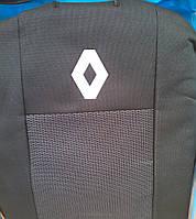 Чехлы на сиденья Renault Clio / Symbol (Рено Клио / Симбол) цельная спинка c 2001-2008