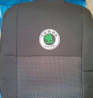 Чехлы на сиденья Skoda Fabia II (Шкода Фабия 2) (цельный) 2007-