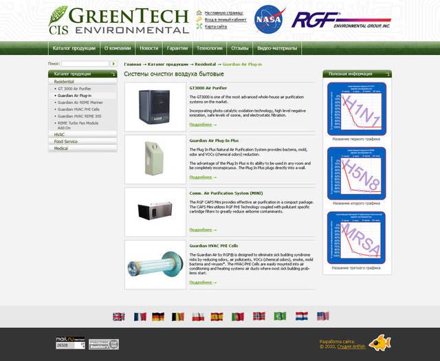 Официальный сайт компании GreenTech (представительство СНГ) 73