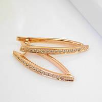 Серьги Xuping Jewelry Алмазные стрелки, медицинское золото, позолота 18К, английский замок. А/В 3383