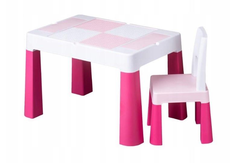 Детский игровой столик со стульчиком  MultiFun Tega Baby розовый