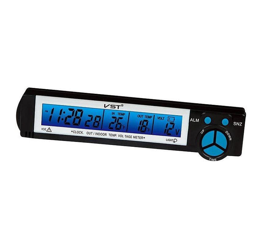 Автомобильные часы, термометр с датчиком  Vst-7043v