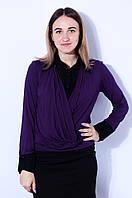 Блуза женская черная-фиолет TATU 2856
