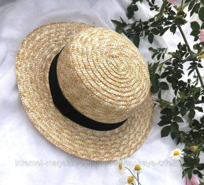"""Шикарная соломенная шляпа """"Канотье"""""""