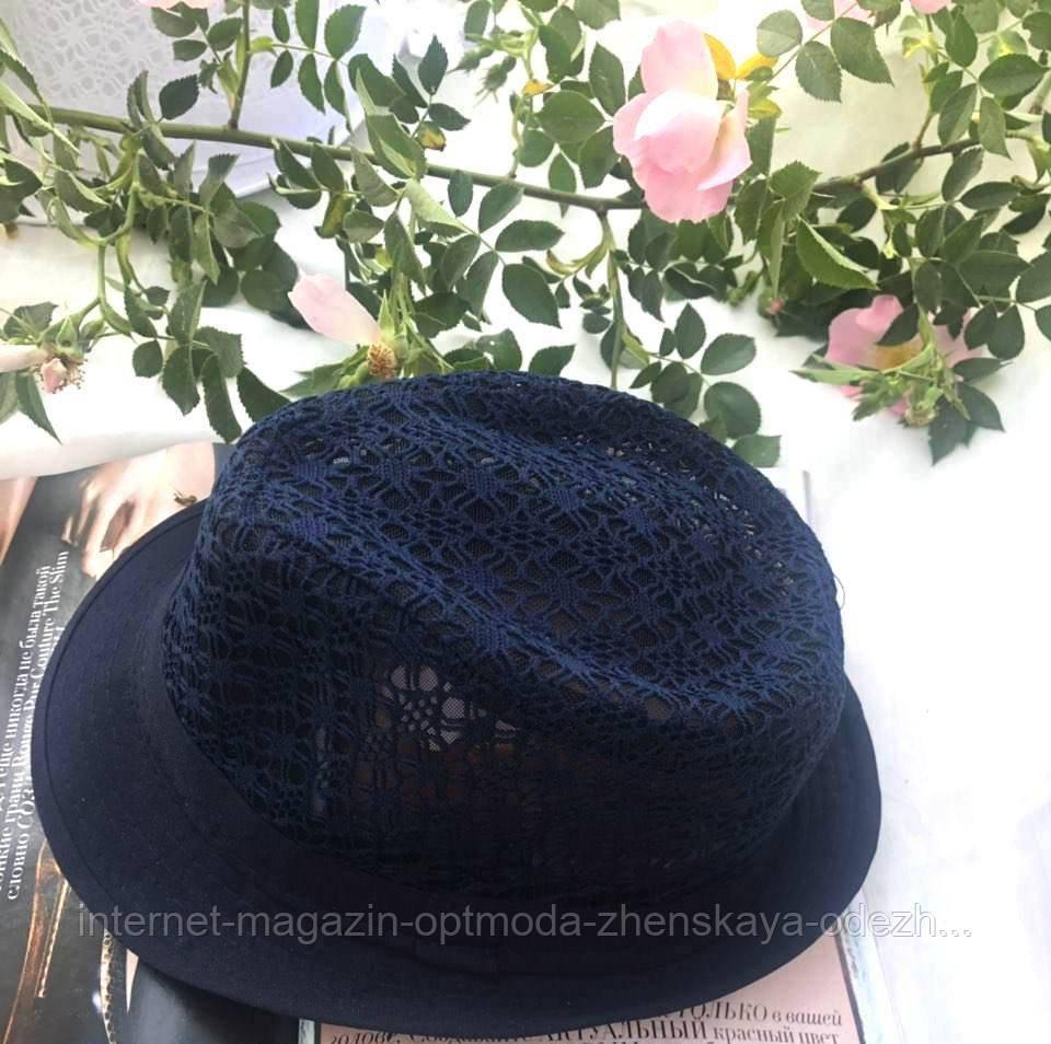 """Ажурная женская шляпа """"Челентанка"""""""