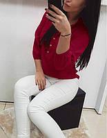 Женская блуза, софт, размер 42-44, 46-48, 50-52, белый, красный, бежевый, голубой, персик