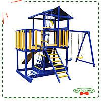 Деревянный игровой комплекс Babyland-11 цветной