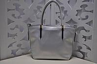 Женская сумка цвета серебро, из искусственной кожи