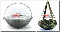 Казан чавунний 12л для плову азіатського типу (татарська) WOK з алюмінієвою кришкою і чохлом БІОЛ 0912АК-2, фото 1