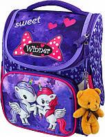 Рюкзак ранец Winner stile 2021 ортопедический школьный для 1-4 классов для девочки 26 см * 14 см * 34 см, фото 1