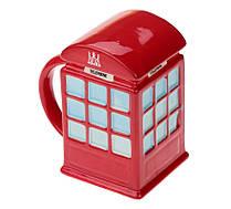 """Кружка """"LONDON"""" - красная телефонная будка"""