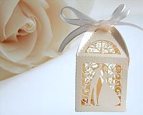 Набор бонбоньерок 10 шт Свадьба (цвет слоновой кости)