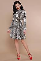 Короткое леопардовое платье Эльнара S, M, L, XL