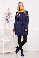 Темно-синее пальто осень-весна П-337