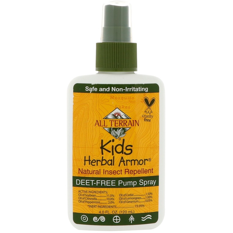 Натуральный репеллент от насекомых All Terrain, травяная защита детей, 120 мл