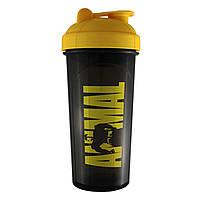 Шейкер ANIMAL (черный с желтой крышкой) 700 мл