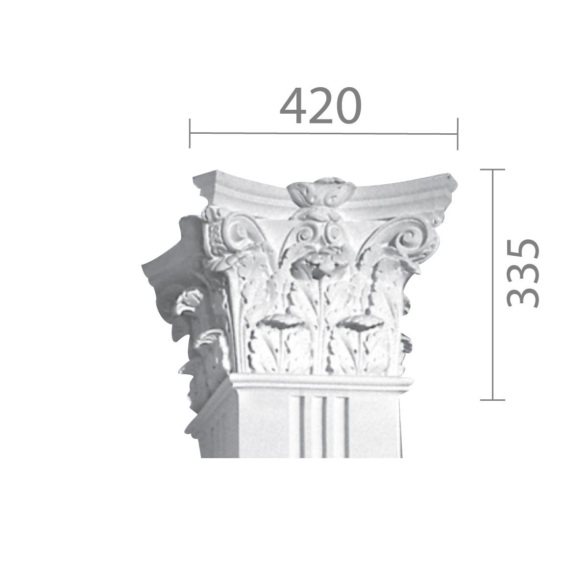 Капітель кп-51 (квадратна)