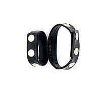 Двойное кольцо BDSM на кнопках 3,2см х 17см - 21,0см, фото 1