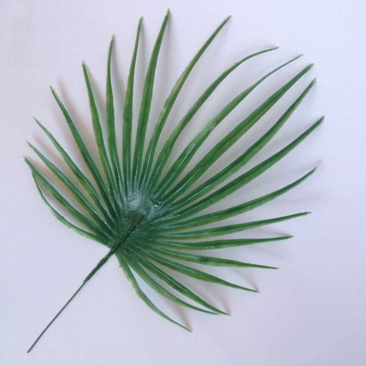Лист пальмы круглый малый  30 см (20 шт. в уп)
