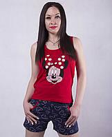Пижама хлопковая с шортиками минни маус р.42-50