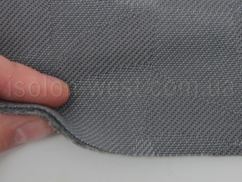 Автоткань серая, 1279/1, для центральной части автомобиля, на поролоне и сетке