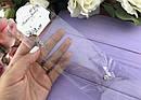 Колье невидимка камень фианит в серебристой оправе на леске 12 шт/уп., фото 3