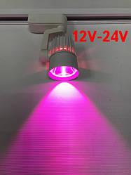 Светодиодный трековый фитосветильник SL-4003F 10W 12-24V DC (full spectrum led) белый Код.59581