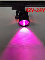 Светодиодный трековый фитосветильник SL-4003F 10W 12-24V DC (full spectrum led) черный Код.59582