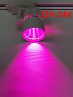 Светодиодный трековый фитосветильник SL-4003F 30W 12-24V DC (full spectrum led) белый Код.59583