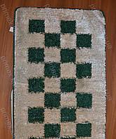 "Набор ковриков для ванной, 60х100 + 60х50см. ""Шахматы"", цвет зеленый с белым"