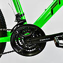 """Детский спортивный велосипед зеленый CORSO Free Ride 24"""" металлическая рама детям от 8 лет, от 135 см, фото 5"""