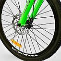 """Детский спортивный велосипед зеленый CORSO Free Ride 24"""" металлическая рама детям от 8 лет, от 135 см, фото 3"""