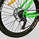 """Детский спортивный велосипед зеленый CORSO Free Ride 24"""" металлическая рама детям от 8 лет, от 135 см, фото 7"""