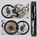 """Детский спортивный велосипед серый CORSO Furious24'' металлическая рама13"""" 21 скорость детям от8 лет, от130 см, фото 9"""