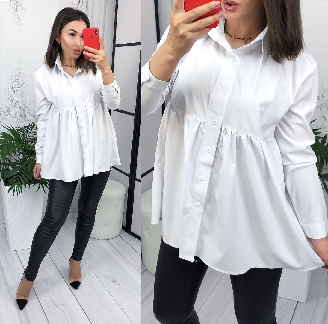 fbe76f1be57a Женская рубашка, турецкий софт, р-р 42-46; 48-50 (белый). В наличии; Оптом  и в розницу ...