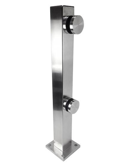 Система крепления стекла стойка из нержавейки 400 мм на точечных коннекторах (нержавейка)