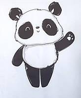 Сатин. Цифровая печать.Панда 100*80