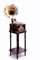 Граммофон с тумбой для виниловых пластинок Париж