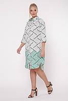 Платье-рубашка Сати фьюжн зеленый